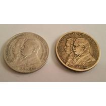 Moeda De 2000 Réis Em Prata E 1000 Réis Em Bronze Centenário