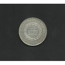 Moeda Brasil 1000 Reis 1853 Sob Prata Ver Fotos E Descrição