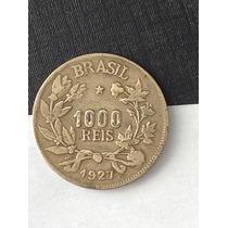 1 Rara Maravilhosa Moeda 1.000 Réis - 1927 Original R E U B