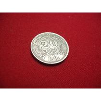 Antiga Moeda De 20 Réis 1919 - V058 - L041