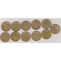 B235 - 2 Dois Cruzeiros 12 Moedas Datas Diferentes R$ 65,00
