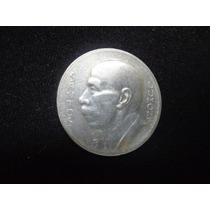 5000 Réis Brasil Prata Ano 1935 Santos Dumont