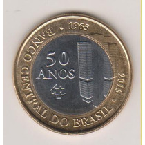 431 - 7 Moedas 1 Real Banco Central 50 Anos Fc Lote R$ 42,00