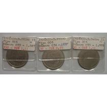 Série 200 Réis Império - 3 Moedas - 1887 A 1889