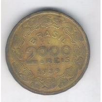 Brasil 2000 Réis 1939 Mbc Bronze-alumínio Floriano Peixoto.