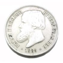 1000 Réis Brasil Império 1888; Moeda Em Prata 0571
