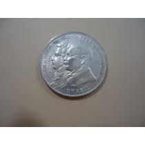 Moeda De Prata 500 Ou 900 -2 Mil. R. 1922 . Centenaria..