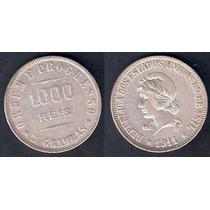 P691 - 1000 Reis - 1911 - X Grammas - Prata 900 - 26 Mm