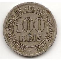 Moeda 100 Réis 1885 Império !