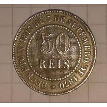 Moeda 50 Réis - Império Do Brazil (níquel) Perfeito Estado