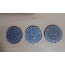 Moeda 50 Reis 1888 Coleçao Completa 86/87/1888 Lindas