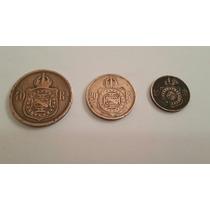 Moedas De 40 Réis De 1873, 20 De 1869 E 10 De 1869=bronze