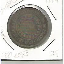 681 - Moeda Brasil 1889 - 200 Réis - Cupro-niquel