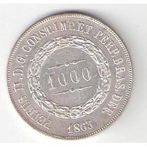 1000 Reis - 1863 - Prata 0.917 - 12,75 Gr