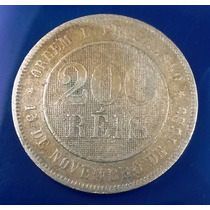 Moeda Antiga 200 Réis - 1889 - Bc - Rara - 126 Anos