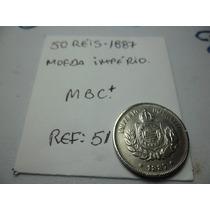 Moeda Rara Do Império 50 Reis 1887-mbc++ Perfeita Ref 51