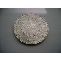 Brasil Moeda Prata 2000 Reis 1855 Brasil Império - Veja Foto