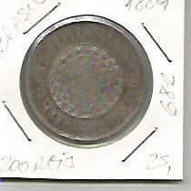 682 - Moeda Brasil 1889 - 200 Réis - Cupro-niquel