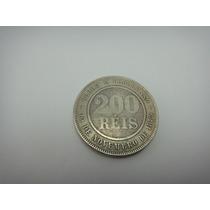 Moeda 200 Reis República 1895 - Escassa - Veja Fotos