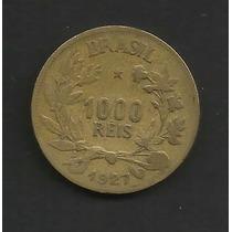 M1-16-brasil-moeda De 1000 Réis-ano 1927-bronze-aluminio