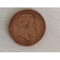 1389 - Rara Magnifica Moeda Petrus Ii - 20 Réis - 1869