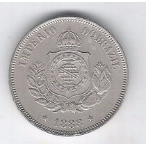 Brasil Império 50 Réis 1888 Soberba , Cupro-níquel.