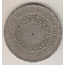 F47 - 200 Duzentos Réis 1889 Moeda De Níquel R$ 10,00