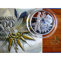 Moeda Prata Brasil 500 Anos-estj+certf-casa Da Moeda