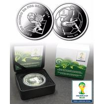 @@@ Moeda De Prata Oficial Da Copa Do Mundo Fifa Brasil 2014
