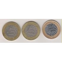 A215 - 1 Um Real 1998/99 E 2014 Datas Escassas Lote R$ 20,00