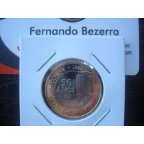 R$1,00 Ano 2015 - Comemorativa 50 Anos Bacen - Fc