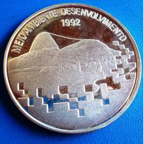 Brasil-meio Ambiente 1992-moeda Prata 925+estojo E Cerf