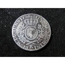 Moeda De Prata França 1 Ecu 1726 Antiga, Enorme !