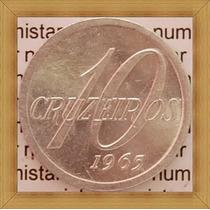 Moeda 10 Cruzeiros 1965 Brasil República Objetos Antigos