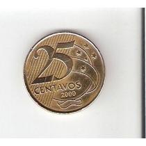 Moedas De 0,25 Centavos De Real De 2000 Rara