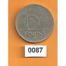Moeda Hungria 10 Forint 1997, 25 Mm - Inox - 0087