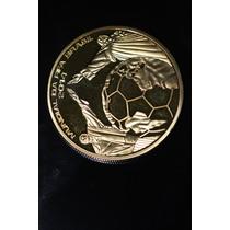 Moeda Comemorativa Copa Do Mundo 2014- Folhada Ouro