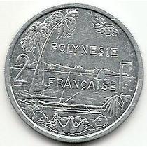 Polinesia Francesa, Moeda De 2 Francos, 1996, Al, Sob/fc