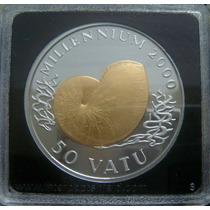 Moedas - Vanuatu - 50 Vatu 1998 - Proof - Bimetálica