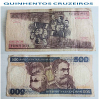 Cédulas 500 Cruzeiros - Notas Antigas Raras.
