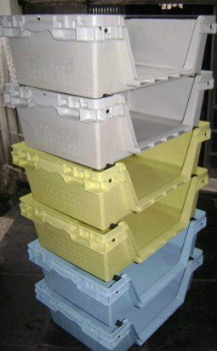 Molde De Caixa Plastica Empilhavel E Gaveteira-4 Versões.