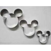 Cortador Mickey (inox) 3 Pçs