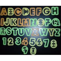 Kit Cortadores Letras Do Alfabeto E Números - Plástico