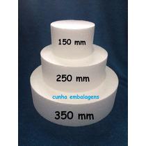 Base De Isopor 3 Andares Para Bolo Falso - 15,25 E 35 Cm