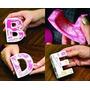 Alfabeto 3d Silhouette Letras Quadradas