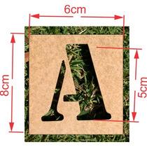 Stencil Letra Vazada De 0 A 9 + Alfabeto 5cm De Altura