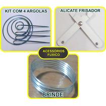 Alicate Para Fuxico + 4 Argolas + Brinde
