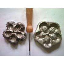 Frisador De Flor Em Alumínio - Rosa Conjugada P