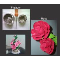 Frisador Para Flor De E.v.a. - Pétala Da Rosa Média