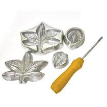 Kit Frisadores Eva Em Alumínio - Promoção Orquidea E Botão